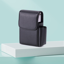 Cigarette Box Lighter Holder PU Leather Smoker Smoke Tools C