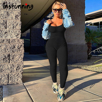 Instunning Sexy Jumpsuit Sleeveless Patchwork Summer Fashion Casual Fitness Bodycon Women Romper Rib Knitted Streetwear