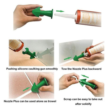3pcs Multi-functional Silicone Sealant Nozzle Scraper Floor Caulking Tools Silicone Sealant Nozzles Kit Home Improvement 1