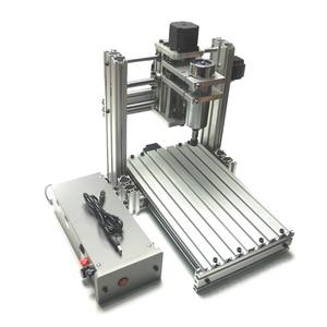 Image 2 - Máquina grabadora enrutador CNC 3020 3 ejes 4 ejes 5 ejes Marco de aleación de aluminio tornillo de bola y limitado swith Mach3 control para drillinng