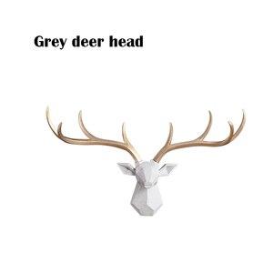 Image 4 - [MGT] Nordic Lucky Deer Head Wallแขวนสร้างสรรค์กวางกวางจี้ห้องนั่งเล่นห้องรับประทานอาหารพื้นหลังตกแต่ง
