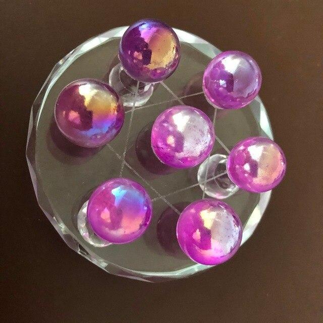 7 sztuk nowości 100% naturalna róża kulka kwarcowa siatka siedem różowa kula z kryształu kwarcu kula uzdrawiający kryształ