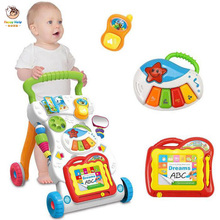 Baby Walker Trolley Multifunction Baby Walker Sit-to-Stand 0-1 Year Old Baby Toys with Weight Tank Kids Early Educational Toys