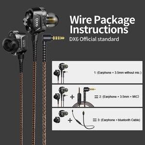 Image 4 - Plextone DX6 bluetooth kulaklık üç adet 3.5mm kulak içi kulaklıklar spor Stereo bas HIFI kablolu kulaklık MMCX kablosu xiaomi