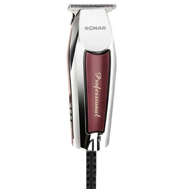 Aparador de cabelo e barba profissional, conjunto com máquina de cortar cabelo potente, barbeador e barbeador, elétrico
