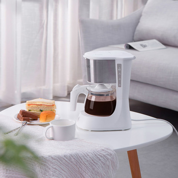 220V Home Coffee Machine Household Espresso Maker Large Capacity Glass Kettle Coffee Powder Filter Anti-Drip Insulation Teapot 3