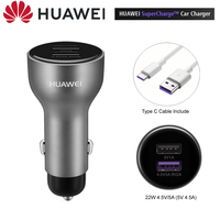Original Huawei Car Charger Huawei 10V 4A Max SuperCharge Include Type C Cable CarCharger For Huawei Mate 20 Pro Honor P20