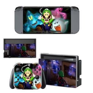 Image 3 - Luigi erkek Mansion 3 Nintendoswitch cilt Nintendo anahtarı çıkartmalar Nintendo anahtarı konsolu için Joy con denetleyici Dock Skins Sticker