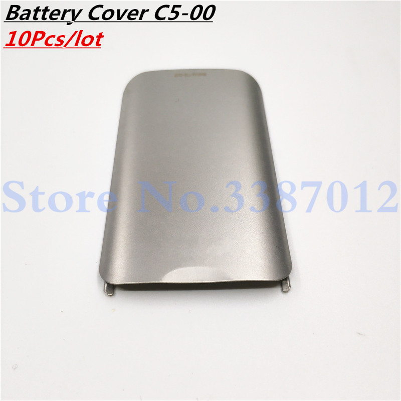 10Pcs/lot Battery door back cover For <font><b>Nokia</b></font> <font><b>C5</b></font> <font><b>C5</b></font>-00 <font><b>Housing</b></font> <font><b>C5</b></font> <font><b>C5</b></font>-00 Battery Door Back Cover <font><b>Housing</b></font> image