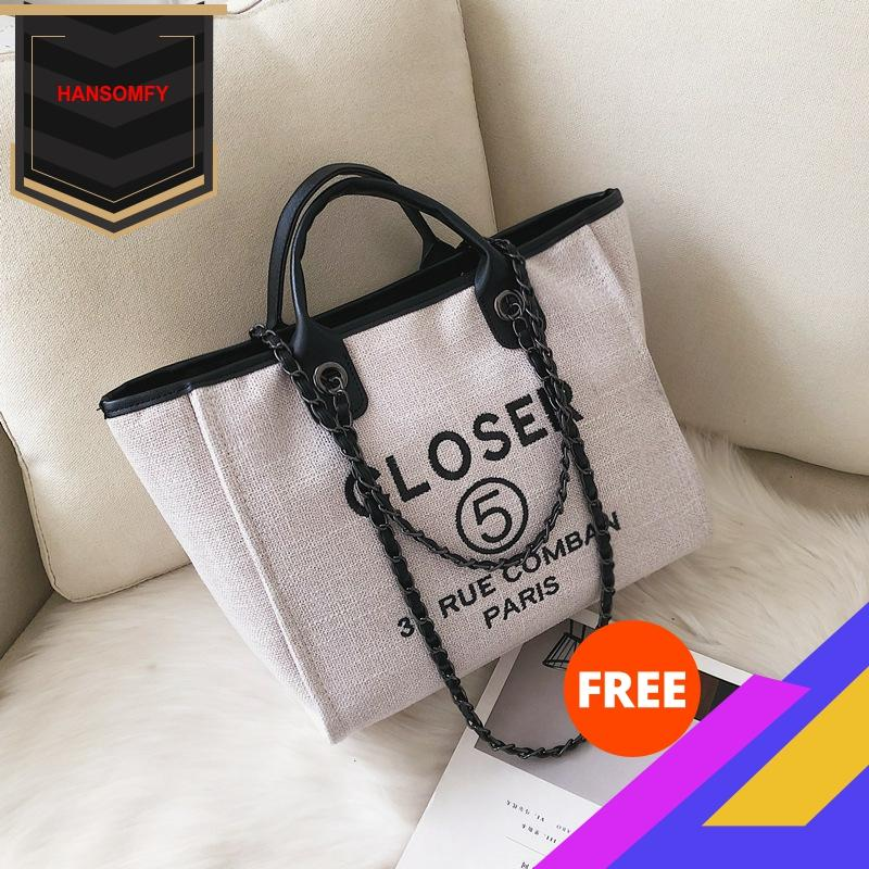 Chain Bag Women's 2020 New Style Handbag Fashion Women's Single-shoulder Canvas Bag Versatile Large Capacity Bag Women Bag