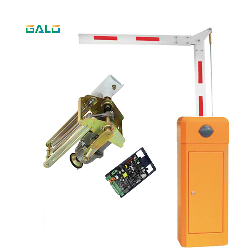 Parking Lot And Toll Gate Control Automatic Hinged DC Parking Arm Fence Gate With Remote RFID Reader Parking Barrier Boom Gate