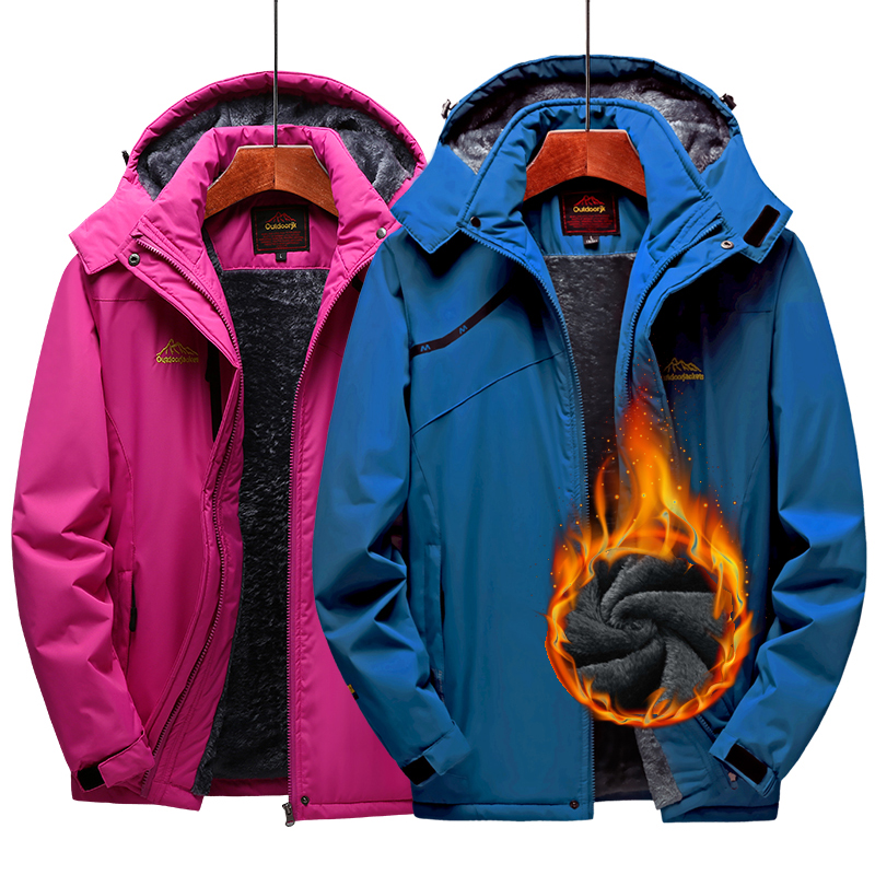 Veste de Ski hommes et femmes imperméable polaire veste de neige manteau thermique pour extérieur coupe-vent Camping randonnée Ski Snowboard veste