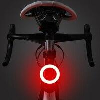 Bicicleta luz trasera de modos de iluminación modelos de carga USB Luz Led de bicicleta Flash cola luces traseras por carretera sillín bicileta Mtb