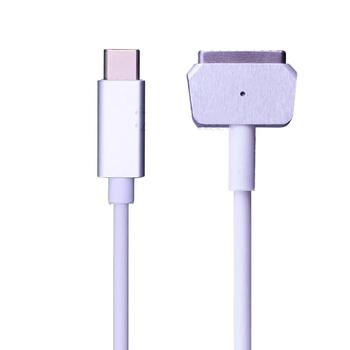 USB typu C C Femal do magsafe * 1 2 kabel przewód Adapter do Apple MacBook Air MacBook Pro 45W 60W 85W 12 13 15 #8243 tanie i dobre opinie jiansu NONE CN (pochodzenie) 16 v 3 25A Dla apple For Apple MacBook Air MacBook Pro For MacBook Air Computer power cord