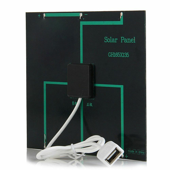 Newest Solar Panel System Charger 3.5W 6V Charging for Mobile Phone Power Bank Camping garden decoration 5