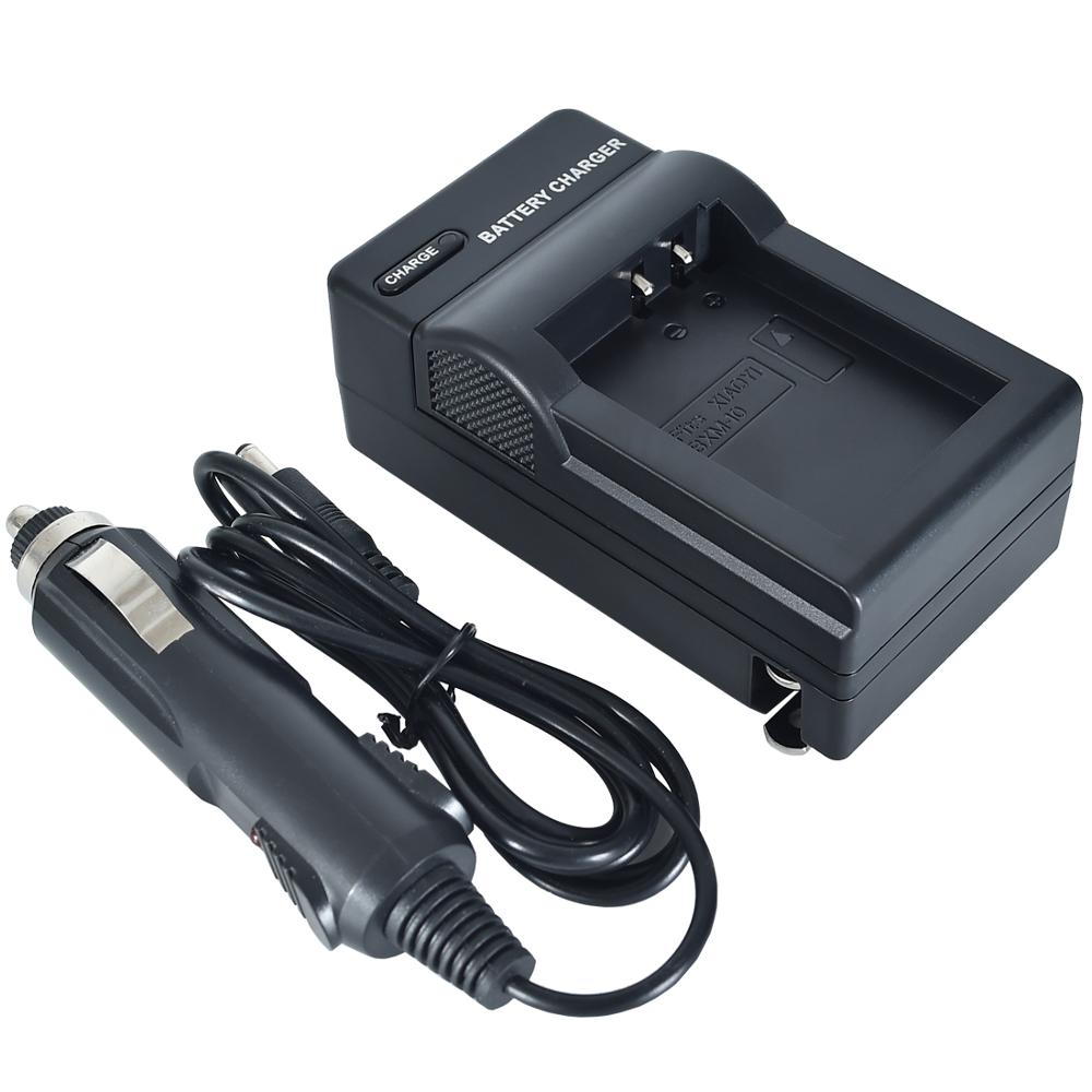 DSTE US Plug Battery Charger with Car Adapter for XiaoYi BXM-10 Camera Battery