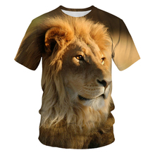 New Men's T-Shirts 3D Printed Animal Lion Leopard Tshirt Short Sleeve Funny Design Casual Tops Tees Male t shirt Size S-6X