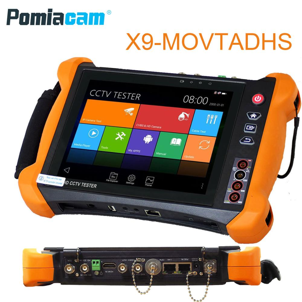 X9MOVTADHS 8 дюймовый сенсорный экран CCTV аналоговая видео HD 1080P IP камера Wi Fi тестер с портом POE UTP 5MP AHD 8MP CVI 8MP TVI камера тестер