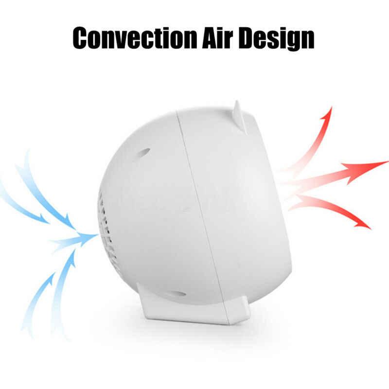 Mini appareil de chauffage électronique portatif en céramique de PTC de radiateur de ventilateur électrique de 500W