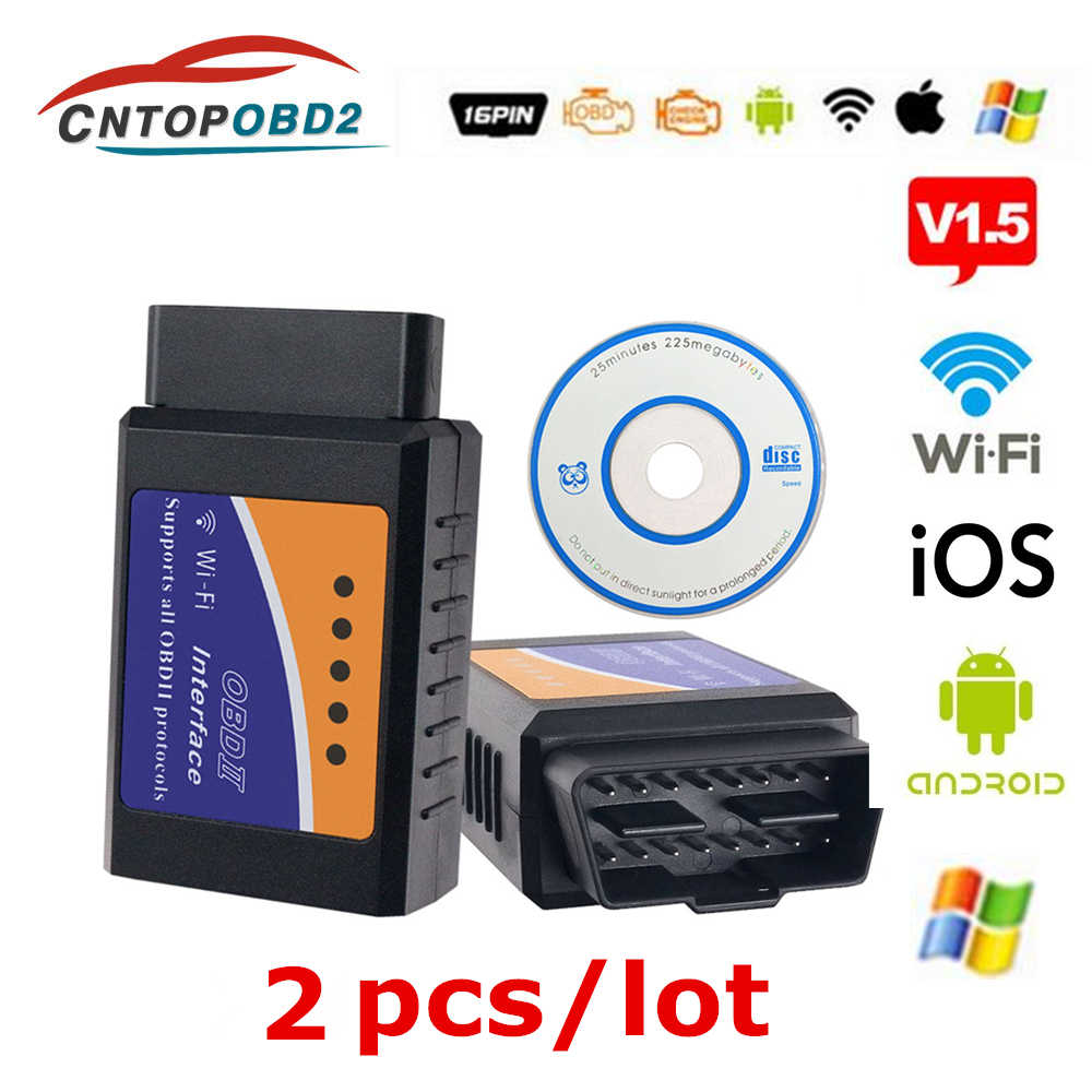 OBD2 Super Mini Wifi ELM 327 V1.5 Diagnostic Tool ELM327 Bluetooth 1.5 OBDII Scanner For IOS Android Windows