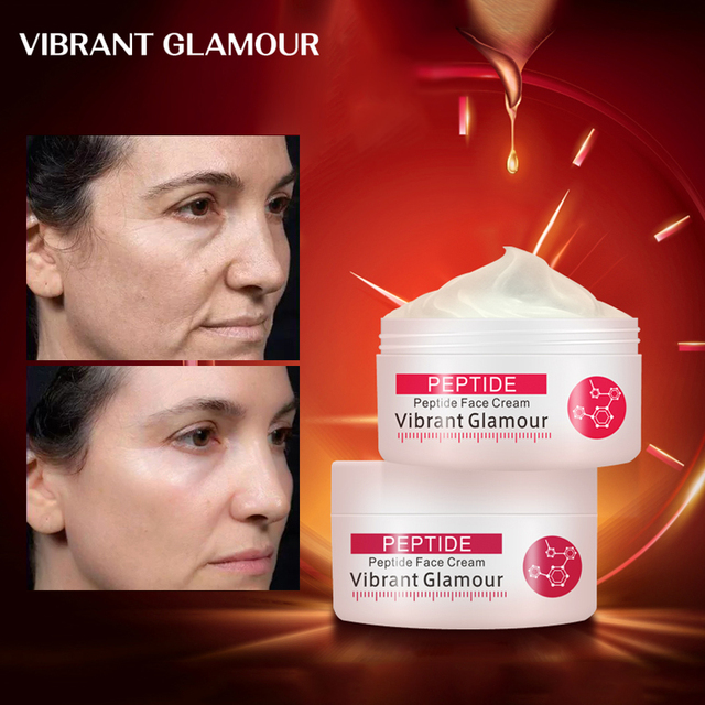 VIBRANT GLAMOUR Collagen Pure Face Cream Anti Aging Wrinkle Lift Firming Anti Acne Whitening Moisturizing Nourish For Women 1pcs