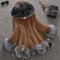 Plus Size 10xl Luxury Women Winter Warm Faux Fur Jacket Female Fox Rabbit Fur Hoodied Imitation Coat Skirt Style Warm Fur Jacket