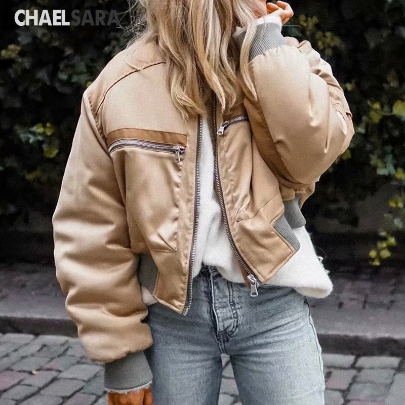 2020 New Spring Autumn Short Baseball Jackets Women Zipper Casual Loose Bomber Coat Female Outwear