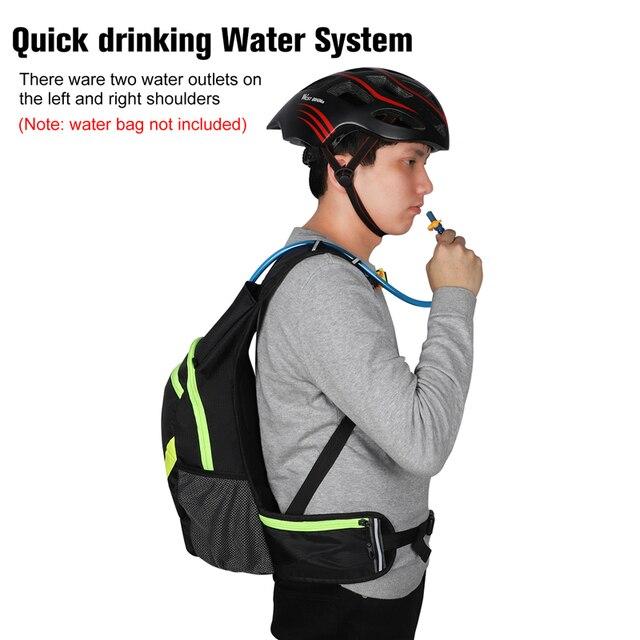 West biking bolsa com reservatório de água, bolsa para bicicleta, à prova d 'água, esportes ao ar livre, ciclismo, mochila de hidratação 5