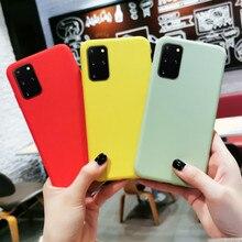 Candy Farbe Weichen Silikon Telefon Fall Für Samsung Galaxy S20 Ultra S10 S9 S8 Hinweis 8 9 10 Plus A10 a20 A30 A40 A50 A70 A80 Abdeckung