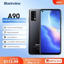 Blackview A90 смартфон Helio P60 Octa Core 13MP HDR Камера мобильный телефон 4 Гб + 64 Гб 4280 мАч Android 11 Телефон 4 аппарат не привязан к оператору сотовой связи Чехо...