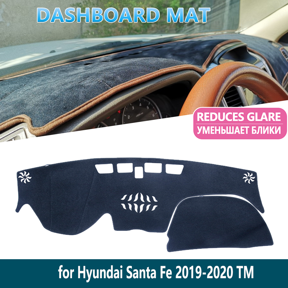 for <font><b>Hyundai</b></font> <font><b>Santa</b></font> <font><b>Fe</b></font> 2019 2020 TM Dashmat Protect Carpet Dashboard Mat Cover Pad Inner Sun Shade Dash board Car <font><b>Accessories</b></font> image