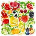 Стикеры водостойкие для свежих фруктов, овощей, Листьев, скейтборда, гитары, ноутбука, мотоцикла, путешествий, багажа, 10/30/50/100 шт.