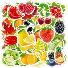 10/30/50/100 pçs frutas frescas legumes folhas adesivos skate guitarra portátil motocicleta viagem bagagem etiqueta à prova dwaterproof água
