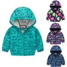 Куртка для маленьких девочек коллекция года, зимняя куртка для девочек, пальто детская теплая верхняя одежда с капюшоном и принтом куртка для мальчиков, пальто Детская одежда ny L30829