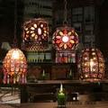 Südostasien retro einzel headed kleine kronleuchter Cafe Bar Restaurant Mittelmeer kreative glasmalerei kronleuchter-in Pendelleuchten aus Licht & Beleuchtung bei