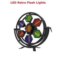 цены Stage Light DMX 7X60W LED Retro Flash Light Wash Lighting Effect Dj Equipment For Stage Wedding Party Light Christmas Decoration