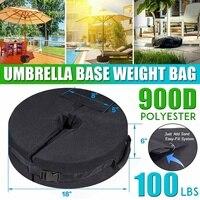 18*6 de polegada ao ar livre pátio guarda-chuva base de base de peso saco à prova de intempéries guarda-sol sacos de areia pesados suporte para casa hotel