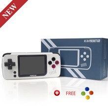 Pocketgo, tela ips de 2.4 polegadas mini jogo retrô, abrir-fonte com console do jogo do cartão da memória externo 8gb
