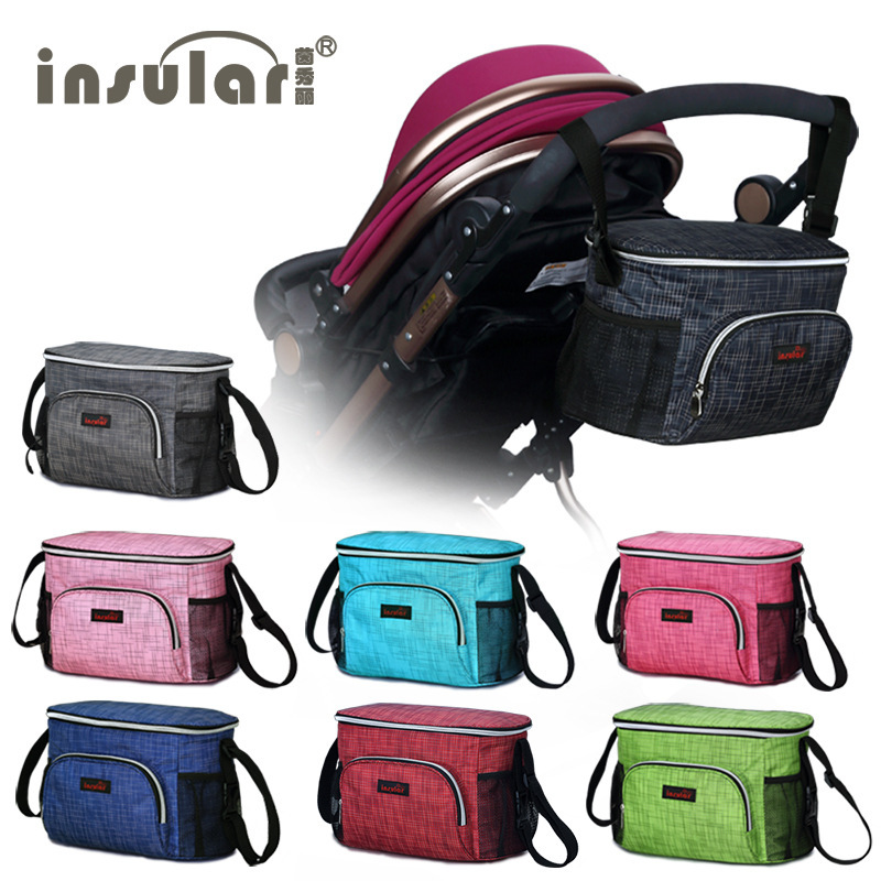 Insular Multi-functional Mummy Bag Inner Wearing Waterproof Insulated Trolley For Diaper Bag Stroller Pannier Bag Stroller Bag