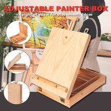 Товары для рукоделия, коробка, мольберт, коробка для эскизов, рисование, ящик для хранения, регулировка древесины, настольный, масляная краска, чемодан для рисования, эскизов
