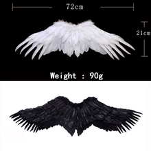 72CM Feather wings Halloween decoration Quality simulation feather Angel Outdoor child toys Lucky Wedding