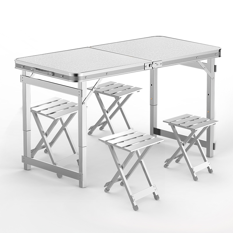 Folding Table Outdoor Stall Push Industry Simple Folding Table And Chair Upgrade Square Tube Is Stable