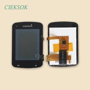 Image 1 - Ekran LCD z dotykowy Digitizer dla Garmin EDGE 820 roweru prędkościomierz nawigacja GPS wymiana części zamiennych