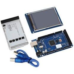 "3.2 ""TFT LCD Touch + 3.2 Cal tarcza Mega tarcza + dla Mega2560 R3 z Usb kabel do arduino|shield mega|touch tfttouch shield -"