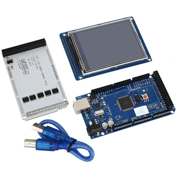 цена на 3.2 TFT LCD Touch +  3.2 Inch Shield Mega Shield + For Mega2560 R3 with Usb Cable For Arduino