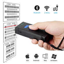 Bluetooth Barcode Scanner,1D Laser Portable Bluetooth Wireless USB Wired 3 in 1 Barcode Scanner with 16M Memory
