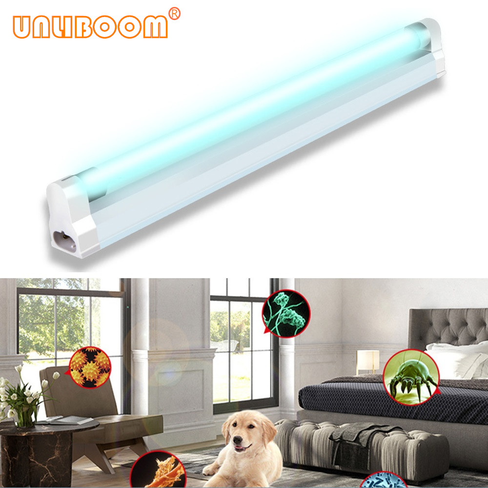 T5 UVC Ultraviolet Lamp Quartz Germicidal Light 6W 8W LED UV Tube Sterilizer Disinfection Bactericidal Lamp 110V/220V EU/US Plug