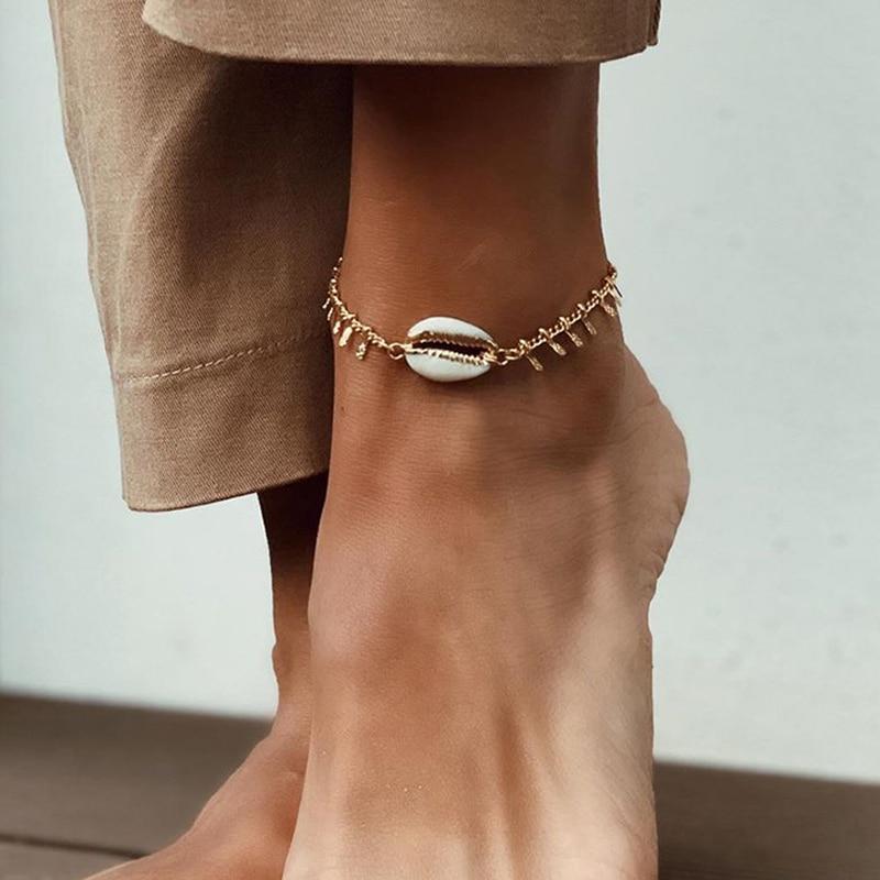 Artilady bohemia anklet bracelet shell foot jewelry for women summer beach jewelry Drop shipping