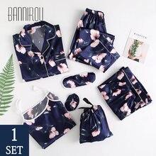 Bannirou для женщин одежда мальчиков Хлопковая пижама комплекты