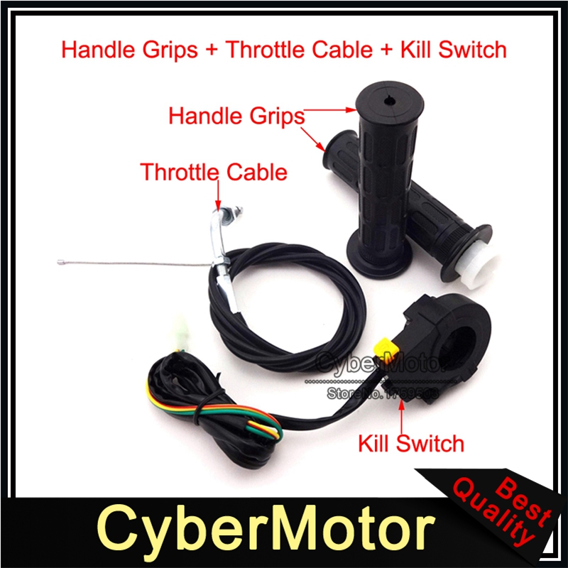 """Stand Up Gas Scooter 33cc Zooma Twist Throttle Cable 70/"""" Kill Stop Switch  MVS10"""